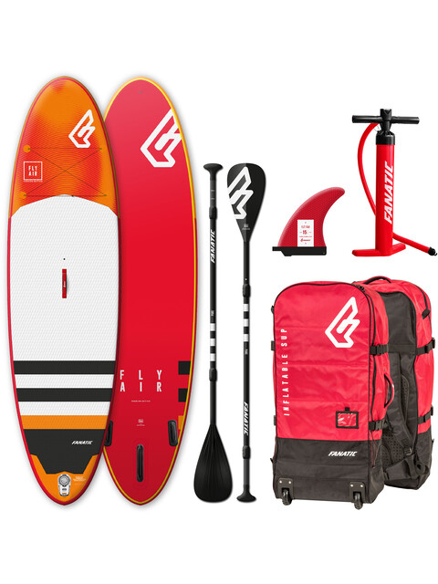 """Fanatic Fly Air Premium Package 09'0"""" Inflatable Sup with Paddles and Pump"""